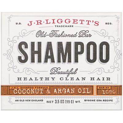 Твердый шампунь в старом стиле, кокосовое и аргановое масло, 99 г (3,5 унции)