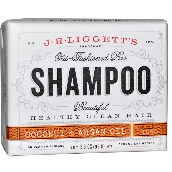 J.R. Liggett's, Old Fashion Bar, Shampoo, Coconut & Argan Oil, 3.5 oz (99 g)
