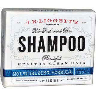 J.R. Liggett's, Old-Fashioned Bar Shampoo, Moisturizing Formula, 3.5 oz (99 g)