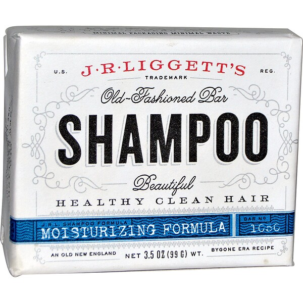 Old-Fashioned Bar Shampoo, Moisturizing Formula, 3.5 oz (99 g)