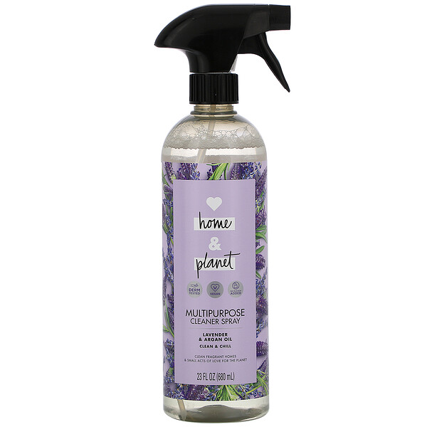 Love Home & Planet, Multipurpose Cleaner Spray, Lavender & Argan Oil, 23 fl oz (680 ml) (Discontinued Item)