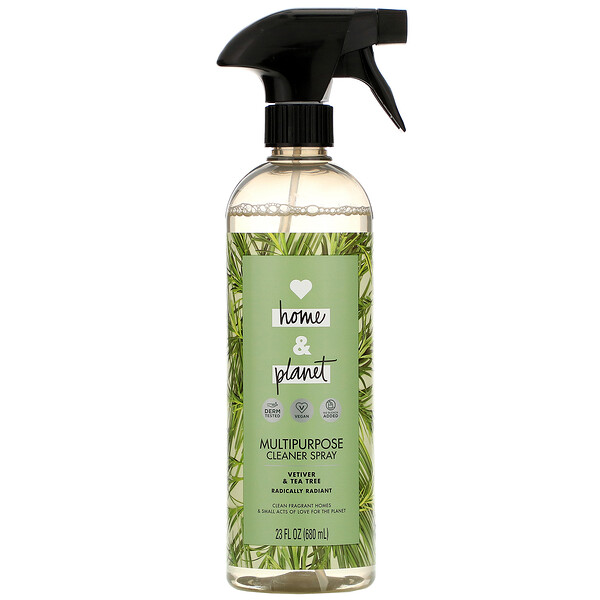 Love Home & Planet, Multipurpose Cleaner Spray, Vetiver & Tea Tree, 23 fl oz (680 ml) (Discontinued Item)