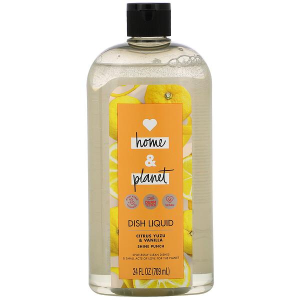 Love Home & Planet, Dish Liquid, Citrus Yuzu & Vanilla, 24 fl oz (709 ml) (Discontinued Item)