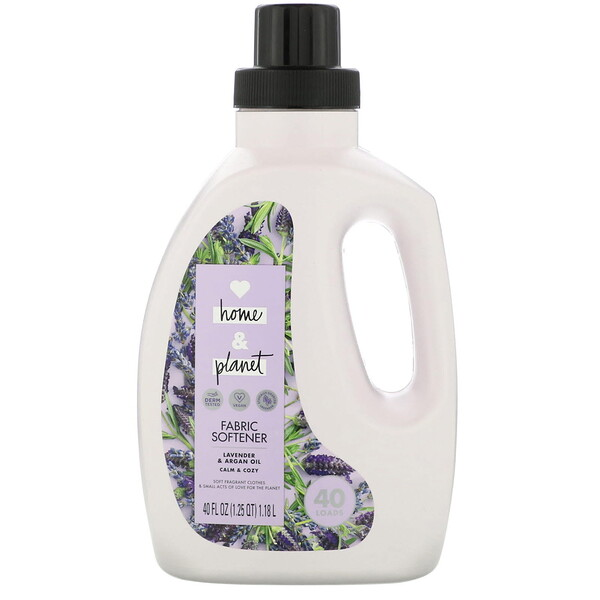 Love Home & Planet, Fabric Softener, Lavender & Argan Oil, 40 fl oz (1.18 l) (Discontinued Item)