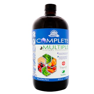 Liquid Health Products, Complet multiple, complément multivitaminique liquide, arôme naturel de baies, 32 fl oz (946 ml)