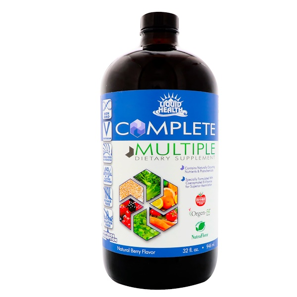 Liquid Health Products, Complete Multiple, Liquid Multivitamin Supplement, Natural Berry Flavor, 32 fl oz (946 ml)