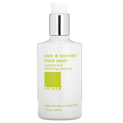 Lather, 梨和薰衣花草洗手液,10 液量盎司(295 毫升)
