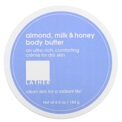 Купить Lather Almond, Milk & Honey Body Butter, 6.5 oz (184 g)