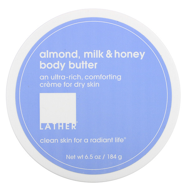 Lather, Almond, Milk & Honey Body Butter, 6.5 oz (184 g)