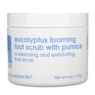 Lather, Eucalyptus Foaming Foot Scrub with Pumice, 4 oz (113 g)