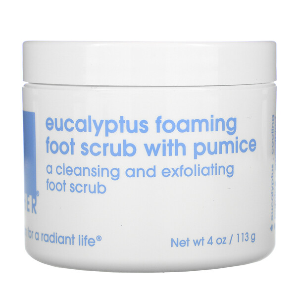 Eucalyptus Foaming Foot Scrub with Pumice, 4 oz (113 g)