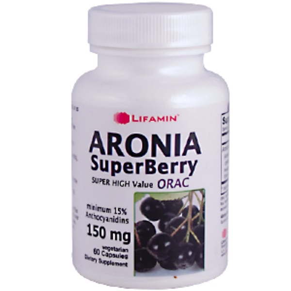 Lifamin, Aronia SuperBerry Extract, 150 mg, 60 Veggie Caps (Discontinued Item)