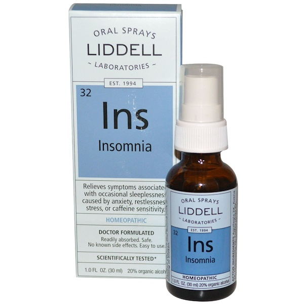 Liddell, Ins, Insomnia, Oral Spray, 1 fl oz (30 ml)