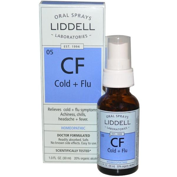 Liddell, CF, Cold + Flu, Oral Spray, 1 fl oz (30 ml) (Discontinued Item)