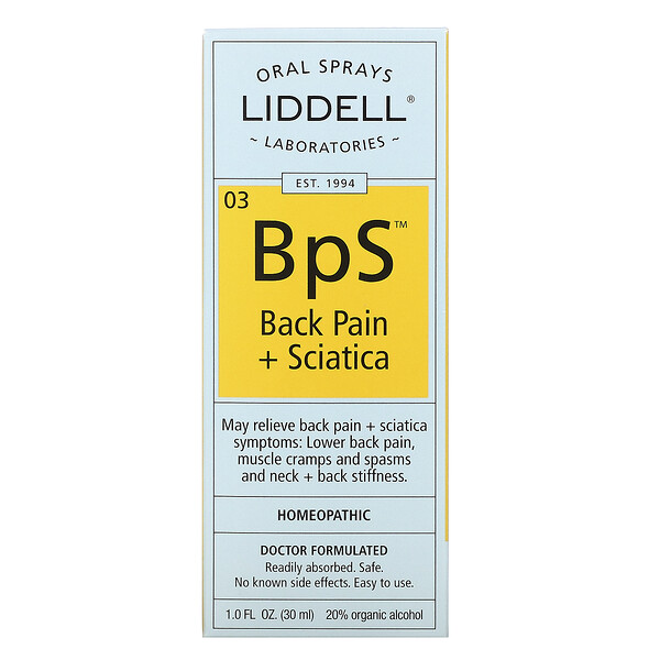 Liddell, 03 BpS, Back Pain + Sciatica, 1.0 fl oz (30 ml) (Discontinued Item)