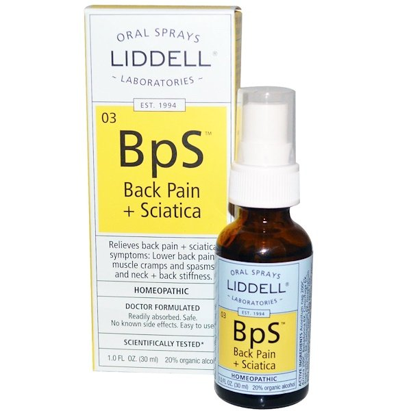 Liddell, BpS, Back Pain + Sciatica, Oral Sprays, 1.0 fl oz (30 ml)