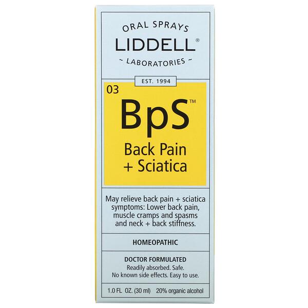 BpS, Back Pain + Sciatica, Oral Sprays, 1.0 fl oz (30 ml)