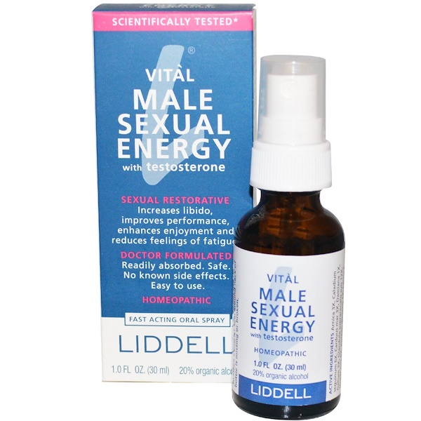 Liddell, Vital Male Sexual Energy with Testosterone, 1.0 fl oz (30 ml)