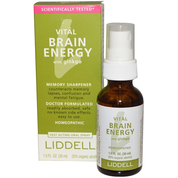 Liddell, Vital Brain Energy, with Ginkgo, 1.0 fl oz (30 ml) (Discontinued Item)