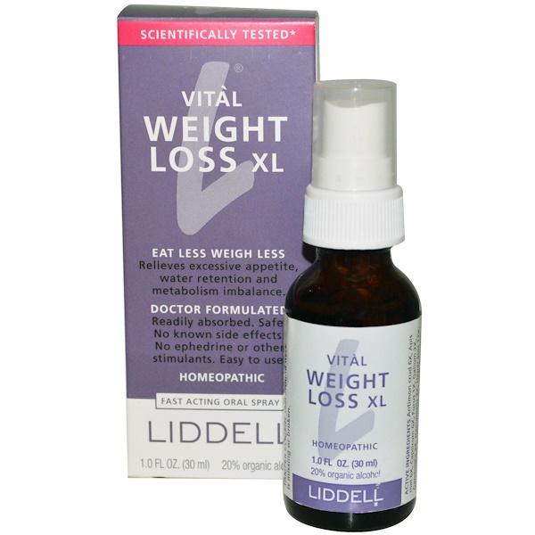 Liddell, Vital Weight Loss XL, Fast Acting Oral Spray, 1.0 fl oz (30 ml) (Discontinued Item)