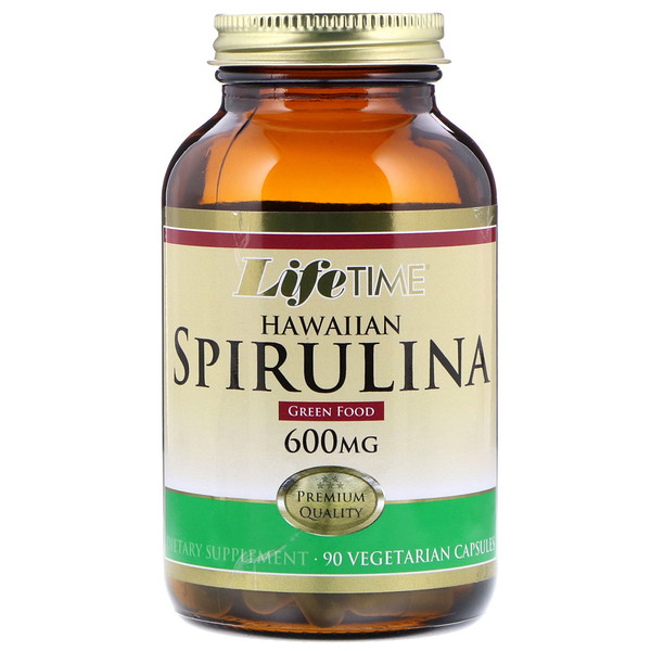 LifeTime Vitamins, Hawaiian Spirulina, 600 mg, 90 Vegetarian Capsules