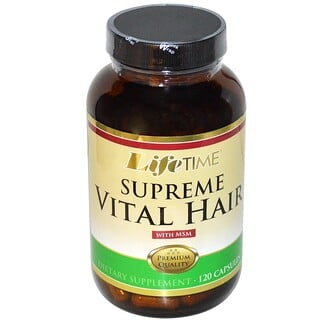 LifeTime Vitamins, Supreme Vital Hair with MSM, 120 Capsules