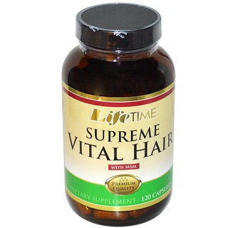 Life Time, Supreme Vital Hair with MSM, 120 Capsules