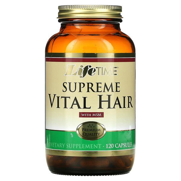 Supreme Vital Hair with MSM, 120 Capsules