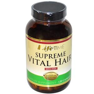 Лайф Тайм, Supreme Vital Hair with MSM, 120 Capsules отзывы