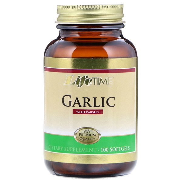 LifeTime Vitamins, Garlic with Parsley, 100 Softgels