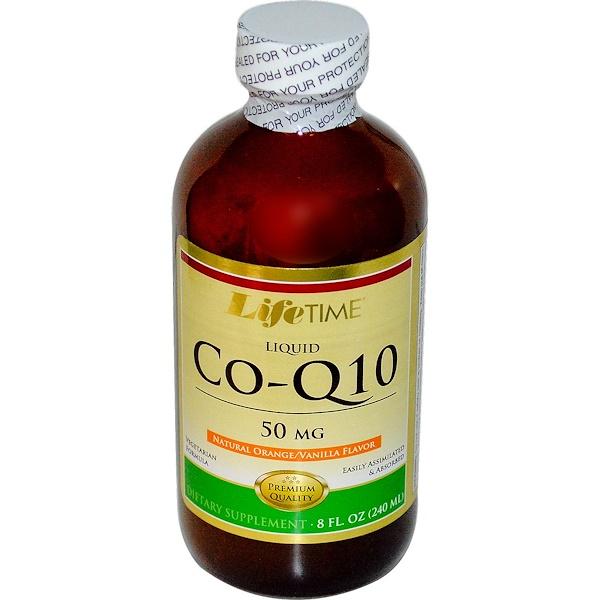 LifeTime Vitamins, Liquid CoQ10, Natural Orange/Vanilla Flavor, 50 mg, 8 fl oz (240 ml) (Discontinued Item)