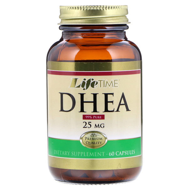 LifeTime Vitamins, DHEA, 25 mg , 60 Capsules