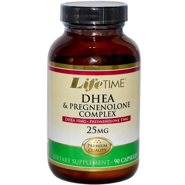 LifeTime Vitamins, DHEA & Pregnenolone Complex, 25 mg, 90 Capsules (Discontinued Item)