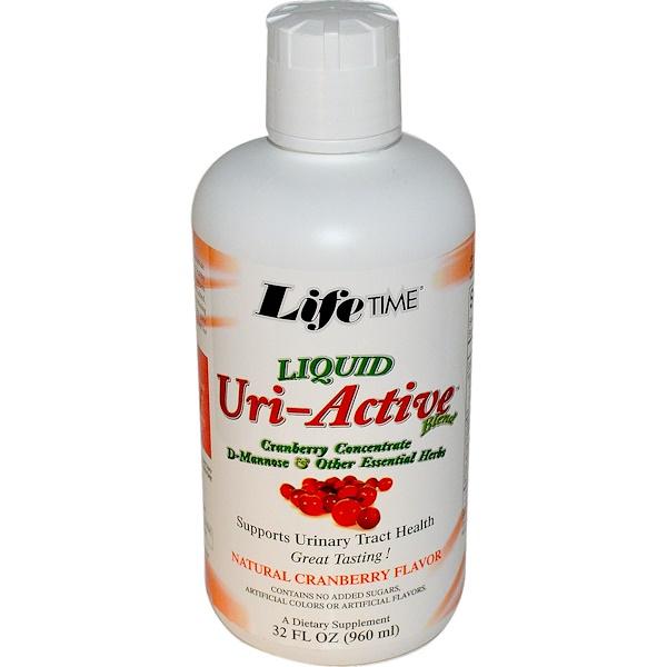 Life Time, Liquid Uri-Active Blend, Natural Cranberry Flavor, 32 fl oz (960 ml) (Discontinued Item)
