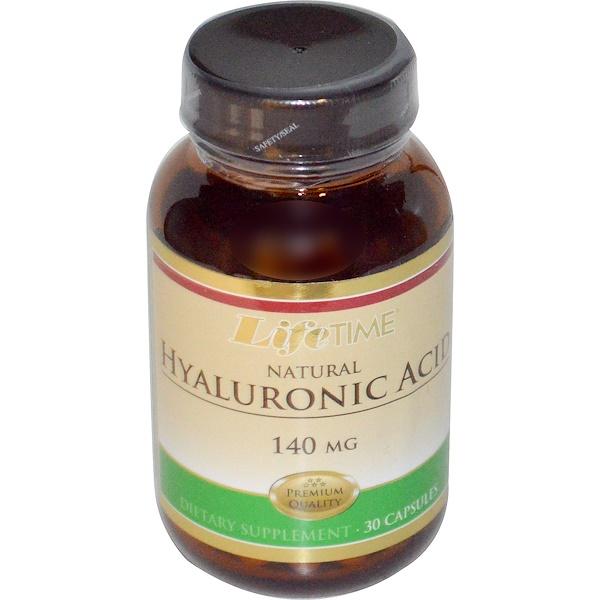 LifeTime Vitamins, Natural Hyaluronic Acid, 140 mg, 30 Capsules (Discontinued Item)