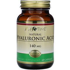 LifeTime Vitamins, 天然透明質酸,140毫克,60粒膠囊