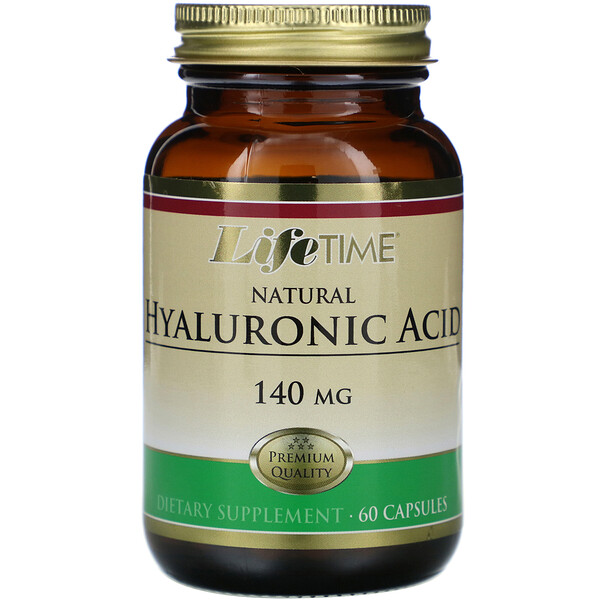 Natural Hyaluronic Acid, 140 mg, 60 Capsules