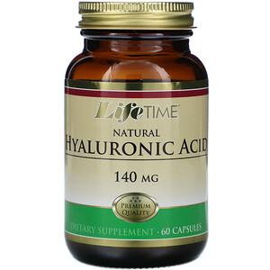 Лайф Тайм, Natural Hyaluronic Acid, 140 mg, 60 Capsules отзывы покупателей