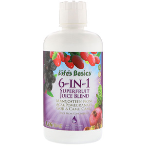 Лайф Тайм, Life's Basics 6-IN-1 Superfruit Juice Blend, 32 fl oz (946 ml) отзывы