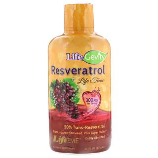 LifeTime Vitamins, LifeGevity, тонизирующее средство с ресвератролом, 32 жидких унций (942 мл)