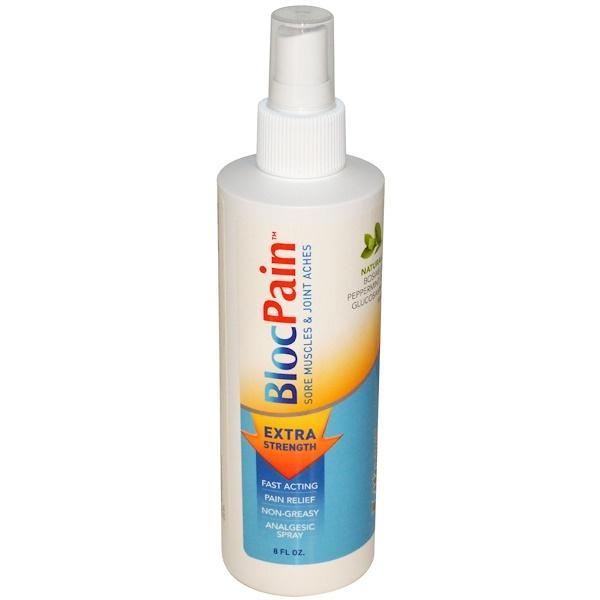 Life Time, BlocPain, Extra Strength, Analgesic Spray, 8 fl oz (Discontinued Item)