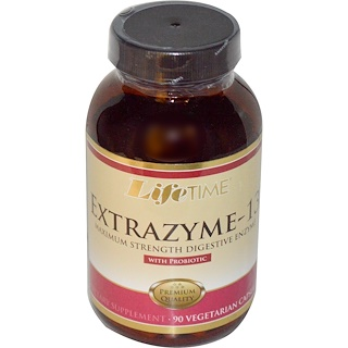 Life Time, Extrazyme-13, con probiótico, 90 cápsulas vegetarianas