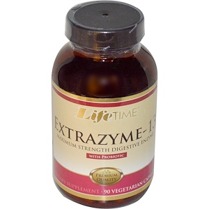 Лайф Тайм, Extrazyme-13, with Probiotic, 90 Veggie Caps отзывы покупателей