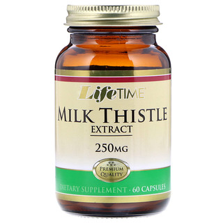 Life Time, Milk Thistle Extract, 250 mg, 60 Capsules