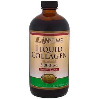 Life Time, Liquid Collagen with Vitamin C, Berry Flavor, 5,000 mg , 16 fl oz. (473 ml)