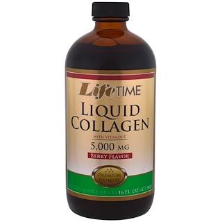 Life Time, Жидкий коллаген с витамином C, ягодный вкус, 5 000 мг, 16 ж.унц. (473 мл)