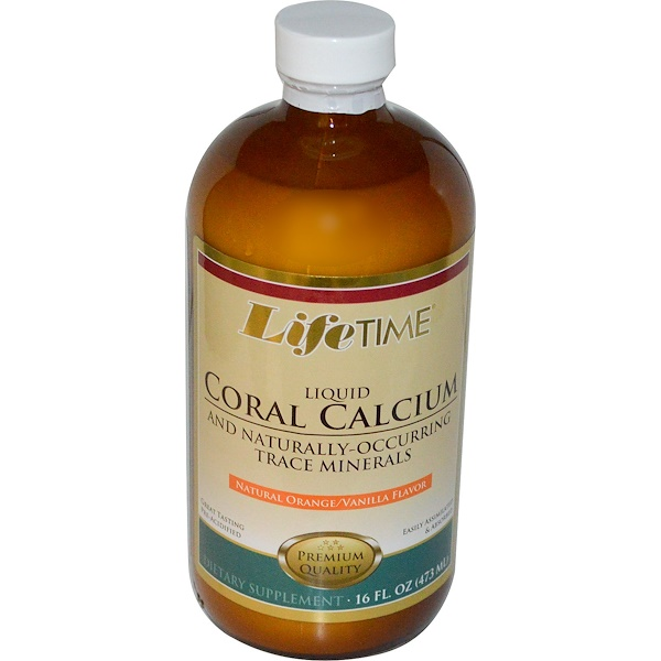 LifeTime Vitamins, Liquid Coral Calcium and Naturally-Occurring Trace Minerals, Natural Orange/Vanilla Flavor, 16 fl oz (473 ml) (Discontinued Item)
