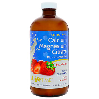 Life Time, Calcium Magnesium Citrate, Strawberry, 16 fl oz (473 ml)