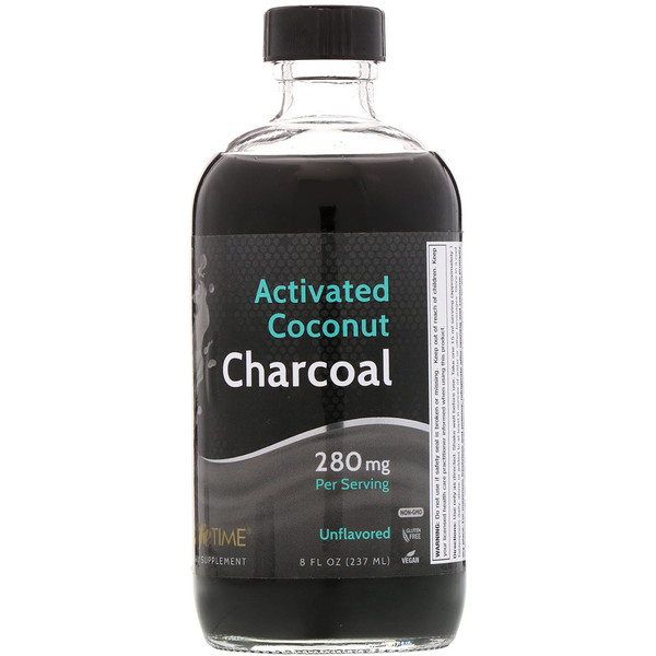 LifeTime Vitamins, Activated Coconut Charcoal, Unflavored, 280 mg, 8 fl oz (237 ml)