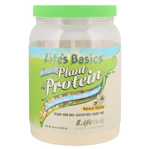 Life's Basics, Organic Plant Protein, Natural Vanilla, 16.4 oz (465 g)